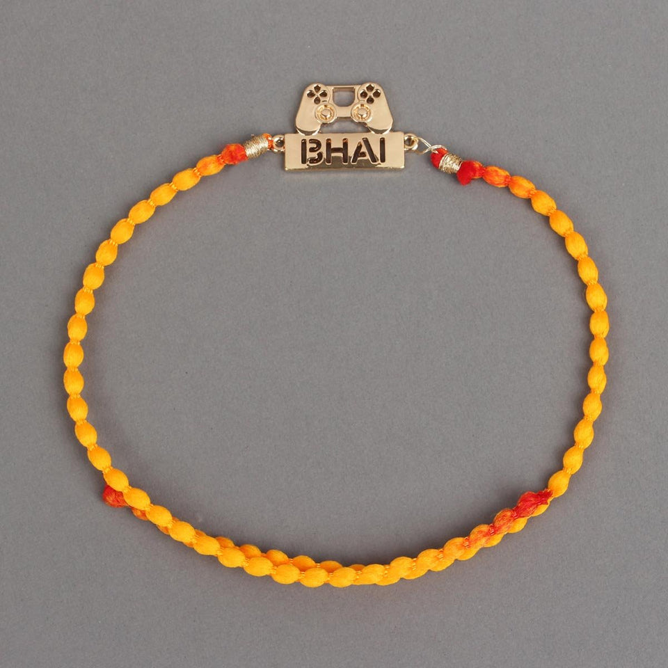 GAMER BHAI - GOLD Metal Rakhi