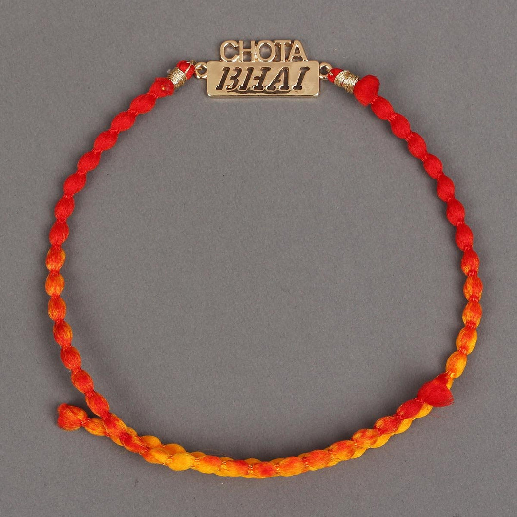 CHOTA BHAI - GOLD Metal Rakhi