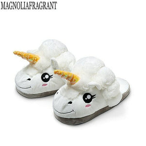 Soft Unicorn Plush Slippers