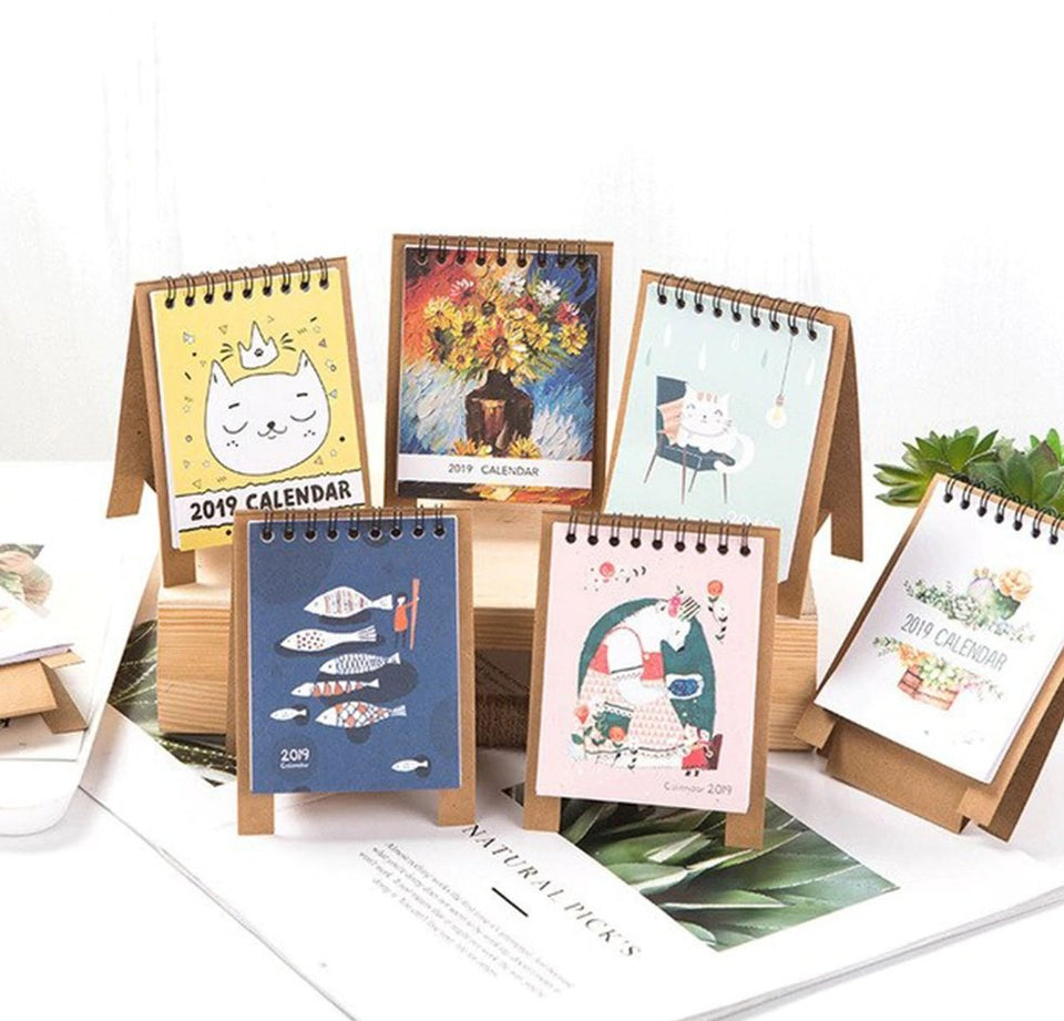 Cute Cartoon Animals Series Calendars Mini Table Desk Calendar Office
