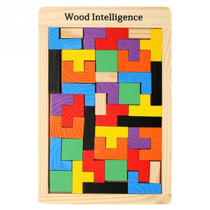 Colorful Wooden Puzzle Board for Children