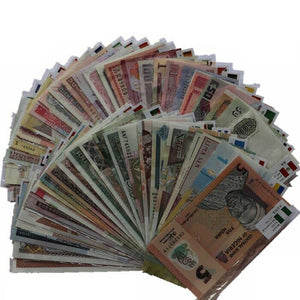 Random Different Countries Original banknotes Best Currency Collection 100 pcs