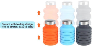 Silicone Portable Leak Proof Foldable Water Bottle