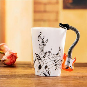 Creative 3D Electric Guitar Mug Ceramic Coffee Mug
