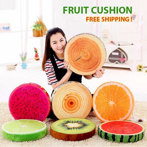 Soft Creative 3D Printed Pillow Round Plush for Sofa & Car Seat