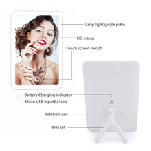 Load image into Gallery viewer, Flawless Makeup - LED Touch Screen Makeup Mirror with Magnifying - SimplicityforLife