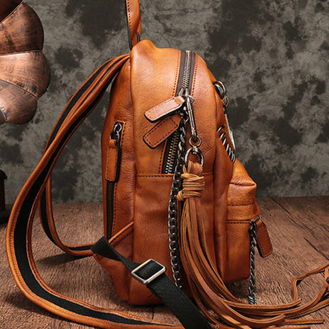 Vintage Leather Purse Cute Backpacks Handbags Shoulder Crossbody Bags