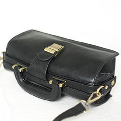 Female Small Leather Doctor Bag Purse Style Handle Bag