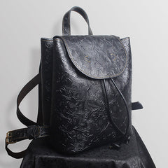 Drawstring Leather Backpack Bags Purse