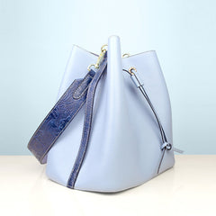 Flora Leather Drawstring Bucket Bag Womens Bucket Bag Purse