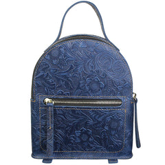 Flora Small Leather Backpack Womens Cute Trendy Backpacks Purse