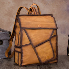 Funky Large Distressed Leather Backpack Bag