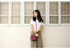 Handmade Womens Tan Leather Small doctor Purse shoulder doctor bags for women