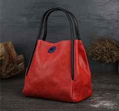 Leather Small Bucket Tote Bags Purses