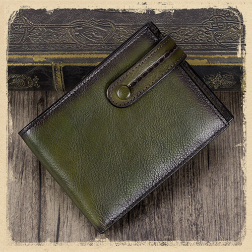Mens Leather Slim Small Billfold Card Holder Wallet Purse