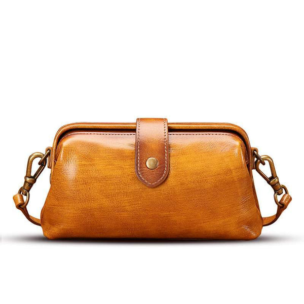 Distressed Leather Small Female Doctor Bag