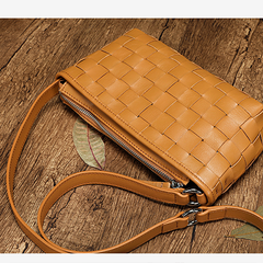 Small Leather Cem Square Crossobody Bags