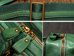 Small Leather Zipper Satchel Side Bag