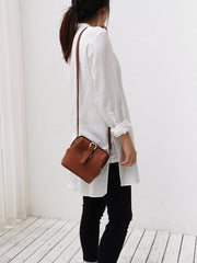 Small Womens Brown Leather Small doctor bag shoulder doctor bag for women