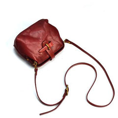 Vintage Womens Red Leather Doctor Shoulder Bag Side Purses Doctor Crossbody Purses for Women
