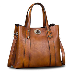 Women's Tote Handbags Leather Bucket Handbag Purse