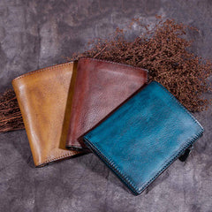 Brown Small Leather Wallet Womens Women's Billfolds