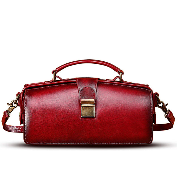 Womes Leather Doctor's Style Handbag Purse