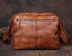Coffee Vintage Leather Messenger Bag Purse