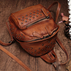 Mini Leather Backpacks Bag Womens