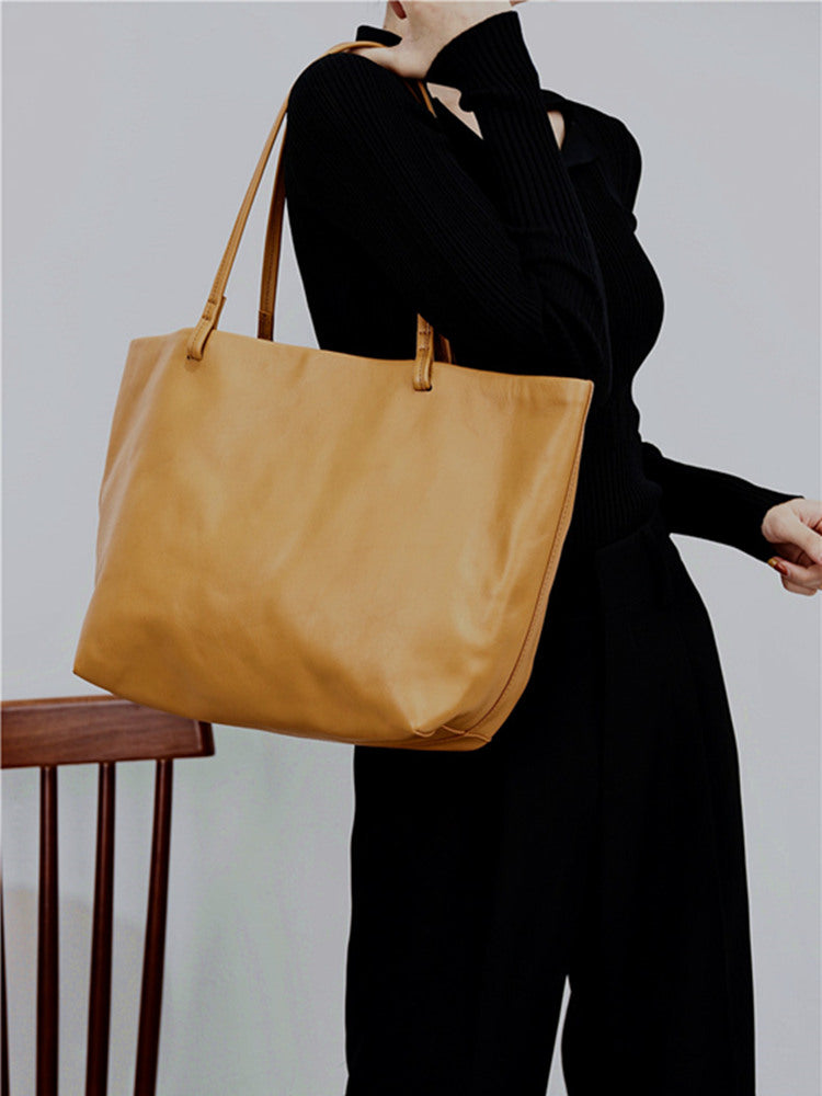 Womens Daily Leather Shopper Tote Bags