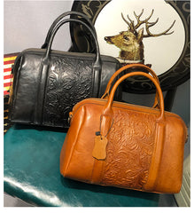 Womens Leather Classy Boston Bags