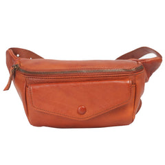 Womens Leather Fanny Pack Side Crossbody Bag Purse