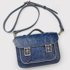 Small Womens Leather Satchel Bag Flora Top Handle Satchel Purse