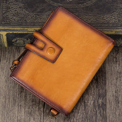 Mens Leather Slim Small Billfold Pocketbook Wallet Purse