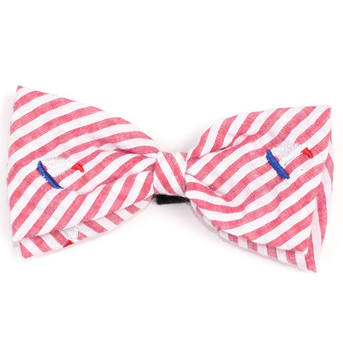 Red Stripe Sailboat Bow Tie