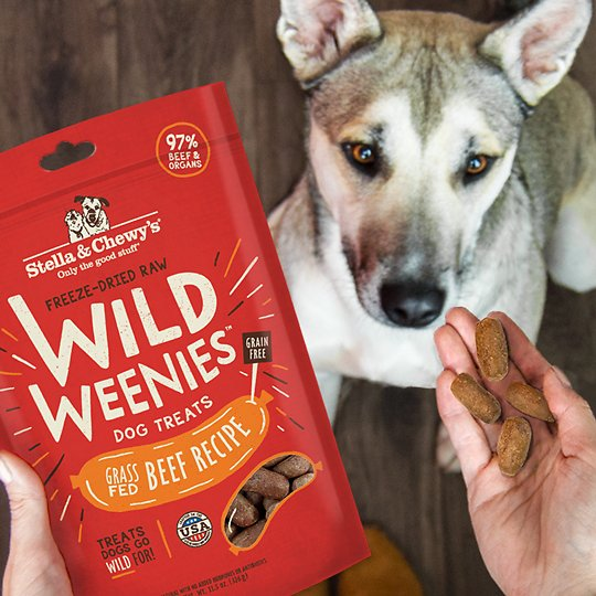 Beef Wild Weenies Freeze-Dried Raw Dog Treats 凍乾香腸放養牛肉小食 3.25-oz
