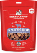 Stella & Chewy's Lamb Heart Freeze-Dried Raw Dog Treats, 3-oz bag
