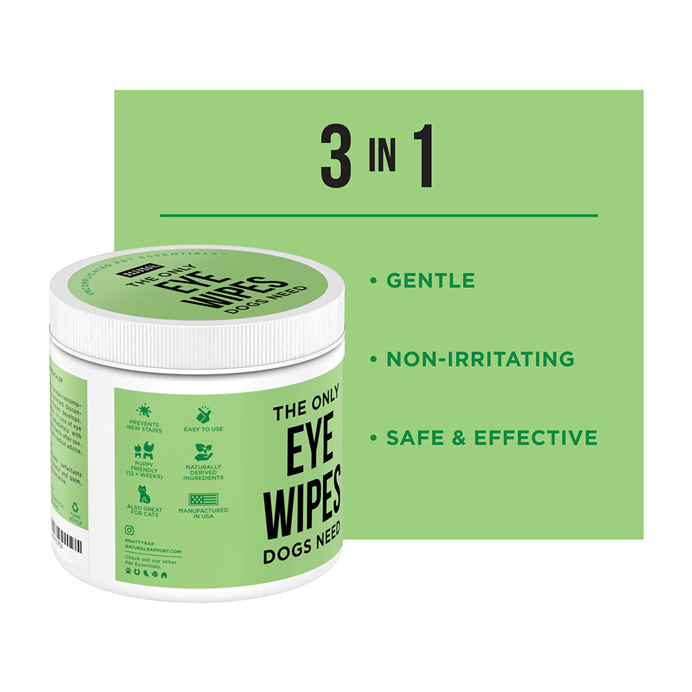 THE ONLY EYE WIPES DOGS NEED 100 count