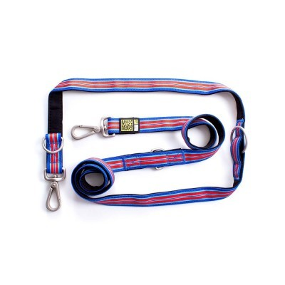 Hampton Stripe Blue Multi Function Leash 多功能拖帶