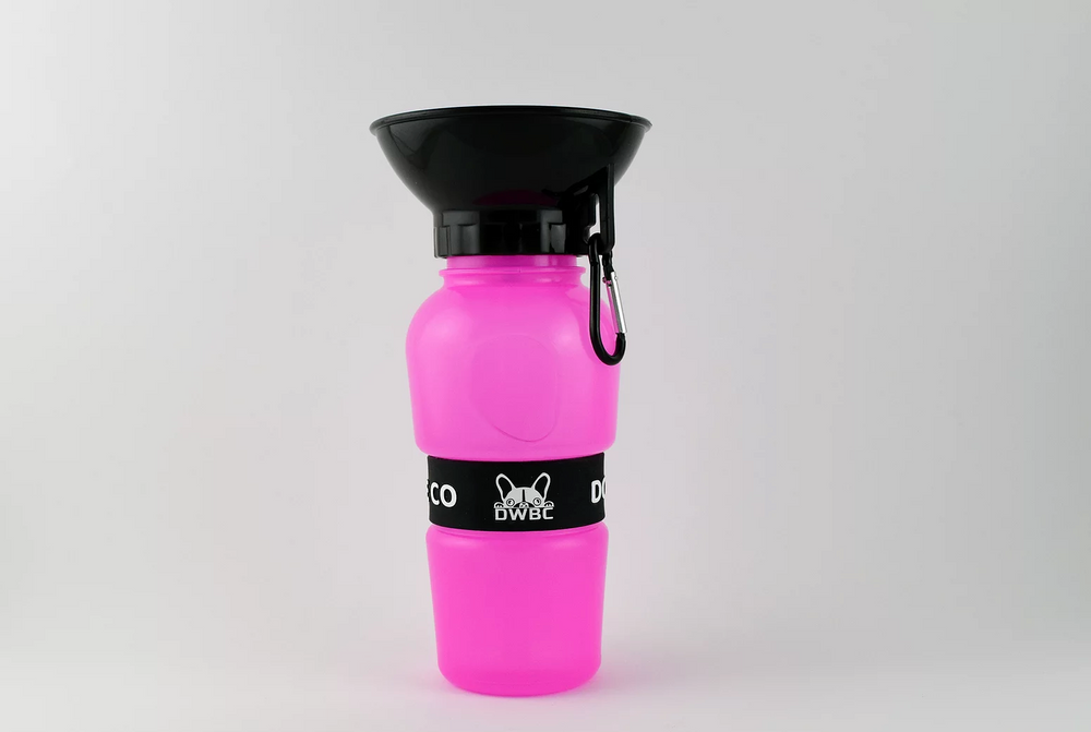 DOG WATER BOTTLE - PINK