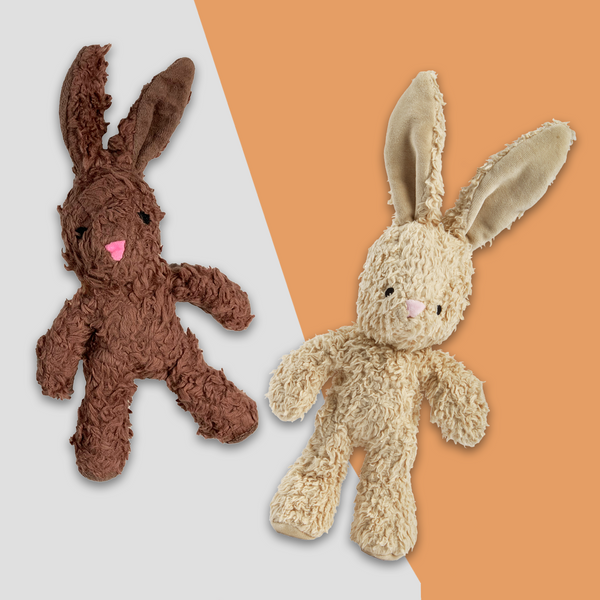 Organic Cotton Bunny Squeaky Plush Dog Toy