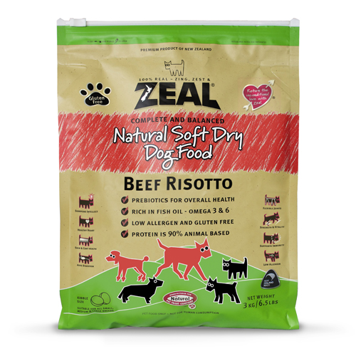 Zeal – Beef Risotto Dry Dog Food  紐西蘭牛肉配方狗糧 3kg