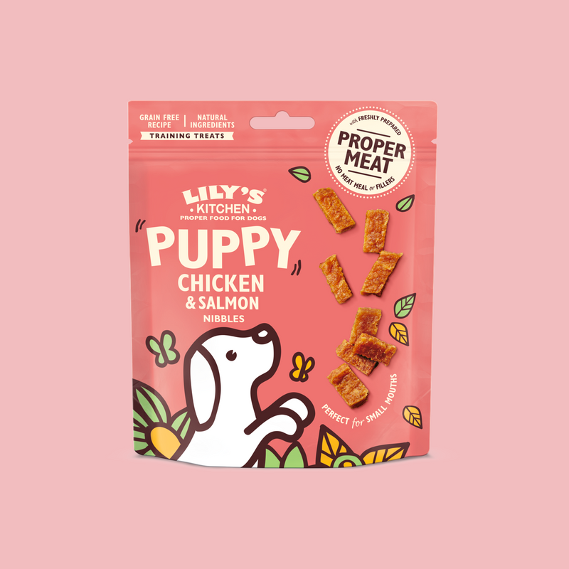 Chicken and Salmon Nibbles Puppy Treats 雞肉三文魚幼犬零食