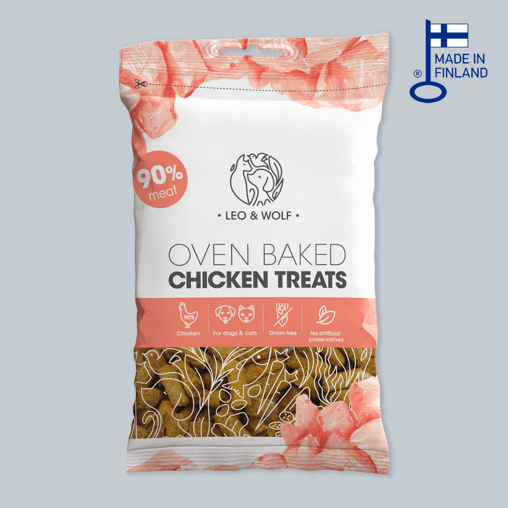 Leo & Wolf Oven Baked Chicken Treats 烘焗芬蘭嫩雞小食 100g
