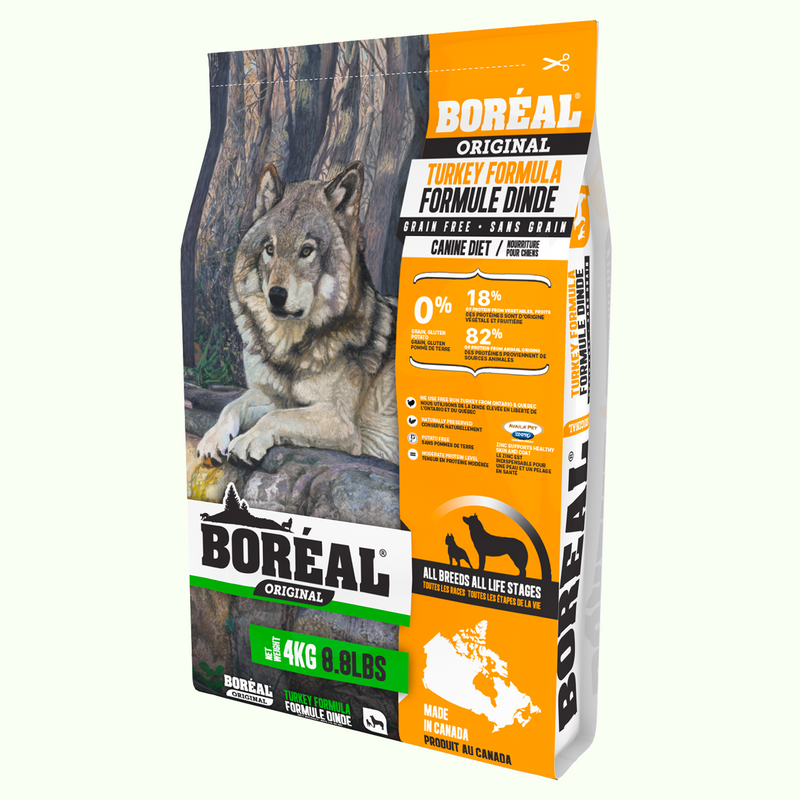 BOREAL Turkey Dry Food for Dog 無穀物火雞鮮肉全犬糧 4KG