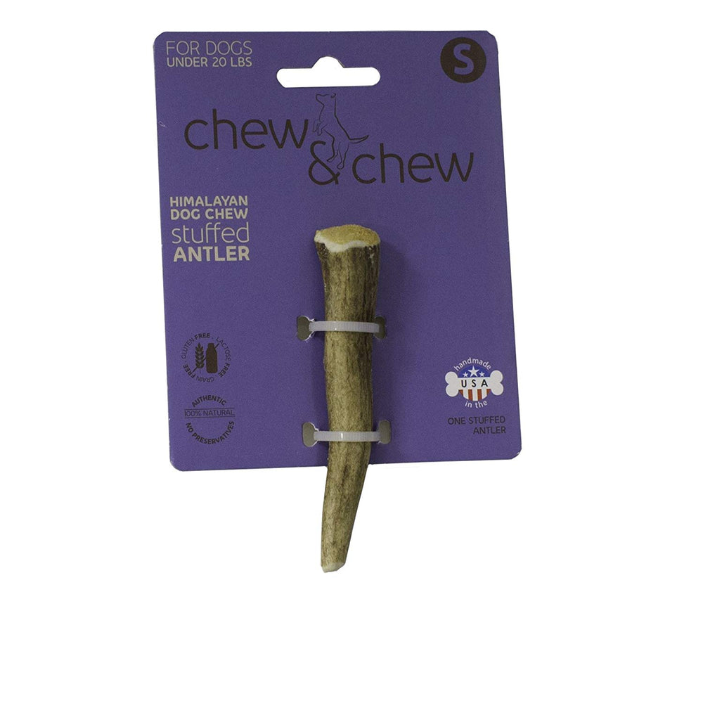 Chew & Chew Cheese Stuffed Antler Dog Treat