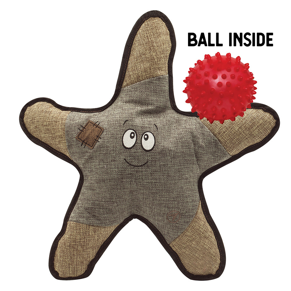 "Sophie the Starfish - 21"" Plush Toy w/Rubber Spikey Ball"