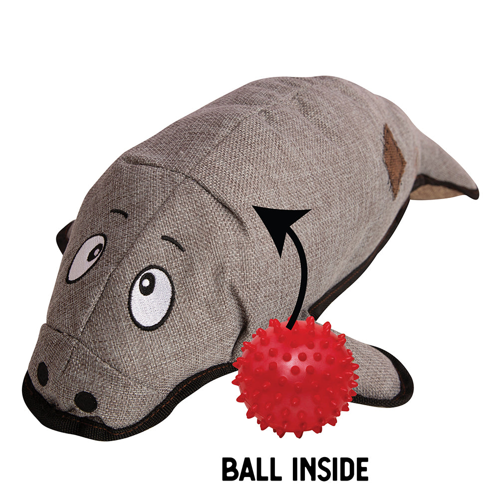 "Murray the Manatee - 21"" Plush Toy w/Rubber Spikey Ball"