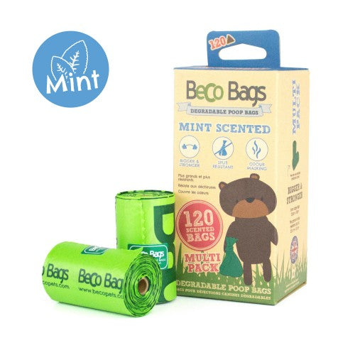 MINT SCENTED DEGRADABLE POOP BAGS 薄荷味環保執屎袋 (120 Bags)