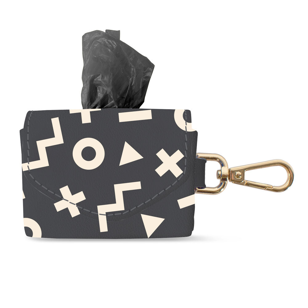 XO SHAPE FAUX LEATHER WASTE BAG KEYCHAIN